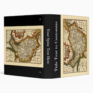 Chester Cheshire County Map England Vinyl Binders