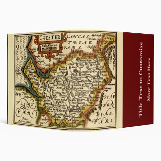 """Chester"" Cheshire, County Map, England Binder"