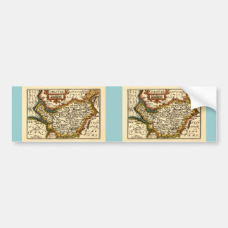 """Chester"" Cheshire, County Map, England Bumper Sticker"