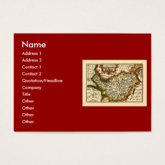 """Chester"" Cheshire, County Map, England Business Card"