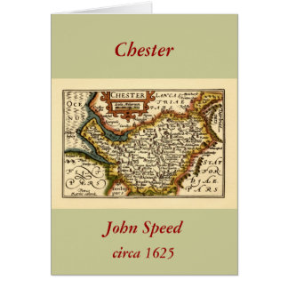 """""""Chester"""" Cheshire, County Map, England Card"""