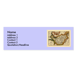 """""""Chester"""" Cheshire, County Map, England Double-Sided Mini Business Cards (Pack Of 20)"""