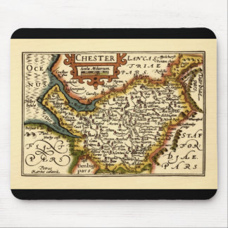 """""""Chester"""" Cheshire, County Map, England Mouse Pad"""