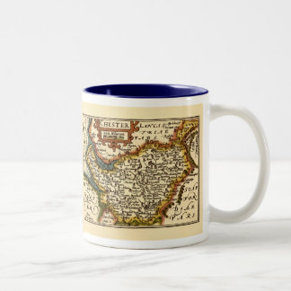 Chester Cheshire County Map England Coffee Mugs