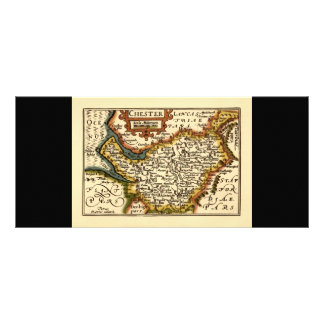 Chester Cheshire County Map England Personalized Rack Card