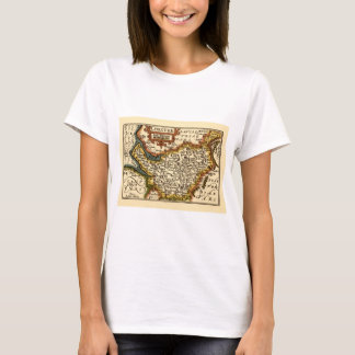 """""""Chester"""" Cheshire, County Map, England T-Shirt"""