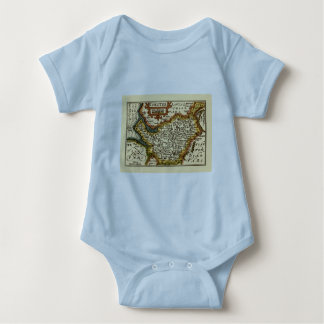 """""""Chester"""" Cheshire, County Map, England Tee Shirt"""