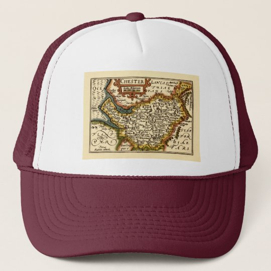 """Chester"" Cheshire, County Map, England Trucker Hat"