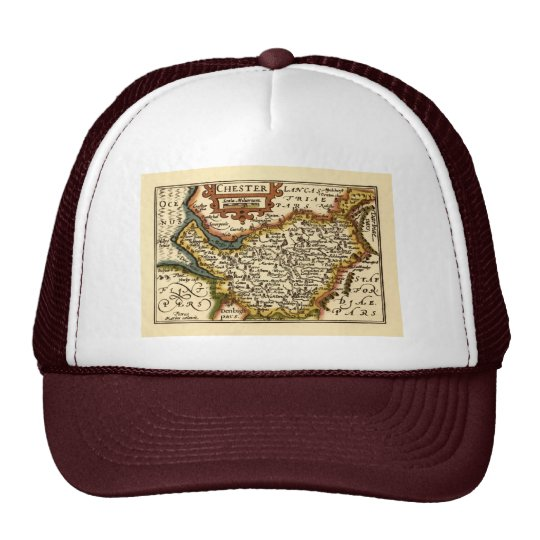 """""""Chester"""" Cheshire, County Map, England Trucker Hat"""