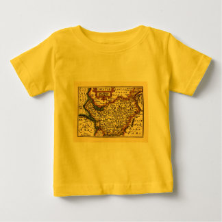 """""""Chester"""" Cheshire, County Map, England T-shirts"""