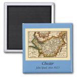 """""""Chester"""" Cheshire, mapa del condado, Inglaterra Iman De Nevera"""