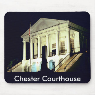 Chester County Courthouse at Night Mouse Mats