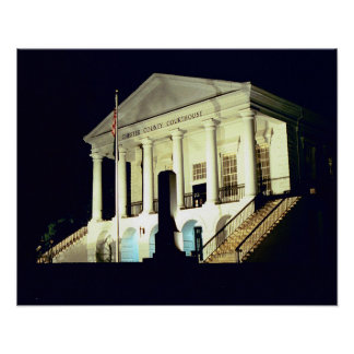 Chester County Courthouseat Night Print