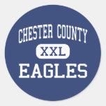 Chester County - Eagles - Junior - Henderson Classic Round Sticker
