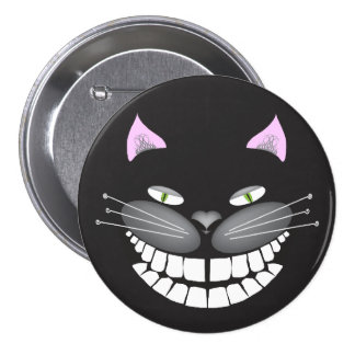 """Chester el gato de Cheshire en un 3"""" botón redondo Pin Redondo De 3 Pulgadas"""