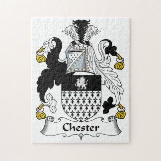 Chester Family Crest Jigsaw Puzzle
