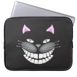 """Chester gatito lindo sonriente de Cheshire del ga Mangas Portátiles"