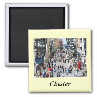 Chester Main Street 2 Inch Square Magnet