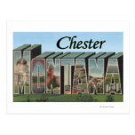 Chester, Montana - Large Letter Scenes Postcard