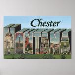 Chester, Montana - Large Letter Scenes Print