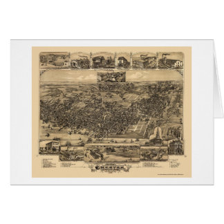 Chester, PA Panoramic Map - 1885 Card