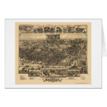 Chester, PA Panoramic Map - 1885 Greeting Card