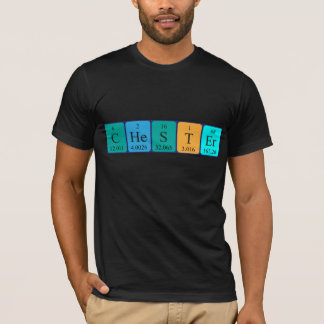 Chester periodic table name shirt