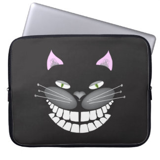 """Chester the Cat"" smiling cute cheshire kitty Laptop Sleeve"
