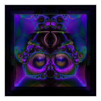 Chester the Cybernetic Owl  Art Print Poster