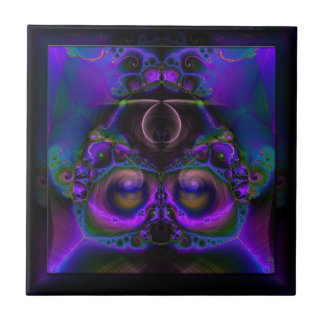 Chester the Cybernetic Owl  Ceramic Tile