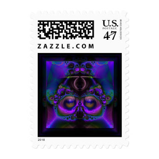 Chester the Cybernetic Owl Postage Stamp