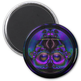 Chester the Cybernetic Owl  Round Magnet