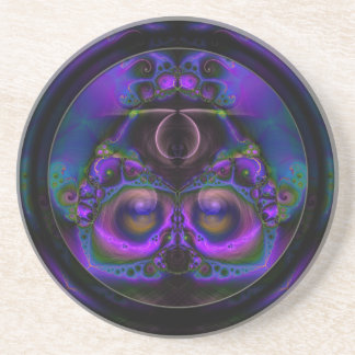 Chester the Cybernetic Owl  Sandstone Coaster