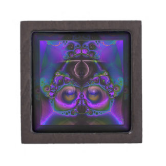 Chester the Cybernetic Owl  Small Keepsake Box