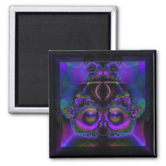Chester the Cybernetic Owl  Square Magnet