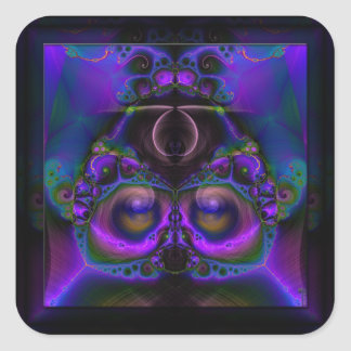 Chester the Cybernetic Owl  Stickers Square
