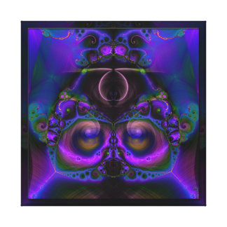 Chester the Cybernetic Owl  Wrapped Canvas Print