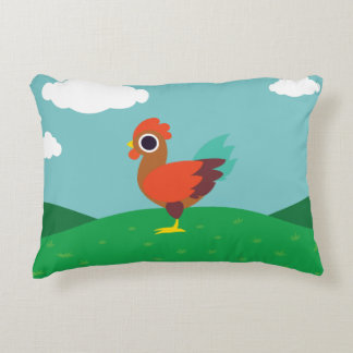Chester the Rooster Decorative Pillow