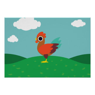 Chester the Rooster Poster