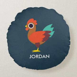 Chester the Rooster Round Pillow