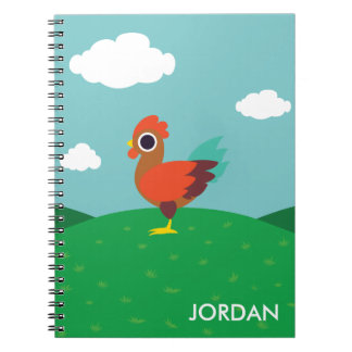 Chester the Rooster Spiral Notebook
