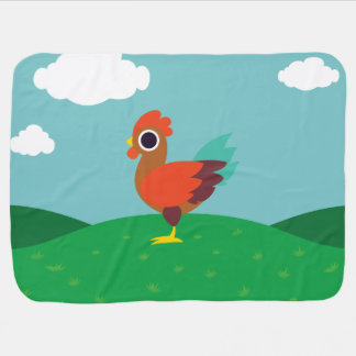 Chester the Rooster Swaddle Blanket