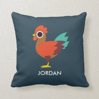 Chester the Rooster Throw Pillow