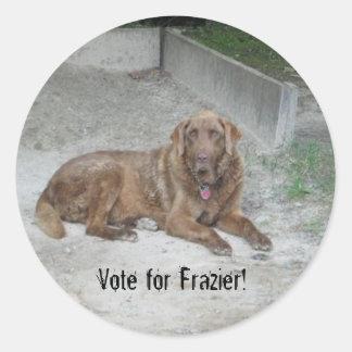 chester, Vote for Frazier! Round Sticker