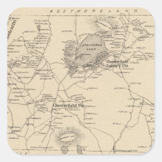 Chesterfield, Cheshire Co Pegatina Cuadrada