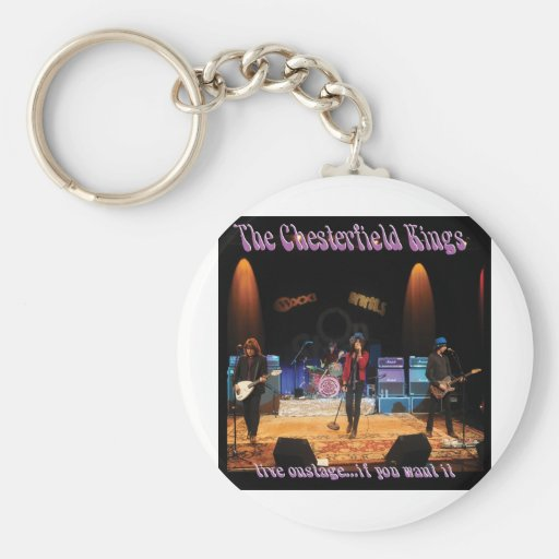 Chesterfield Kings Basic Round Button Keychain