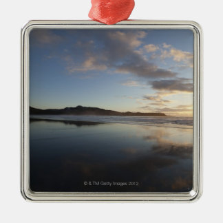 Chesterman Beach at Sunset, Tofino, Vancouver Square Metal Christmas Ornament