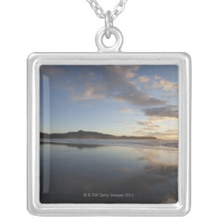 Chesterman Beach at Sunset, Tofino, Vancouver Silver Plated Necklace