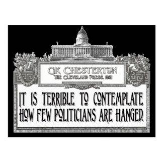 Chesterton en el colgante de los políticos tarjetas postales