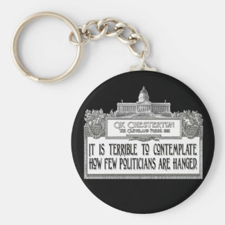 Chesterton on Politicians' Hanging Basic Round Button Keychain